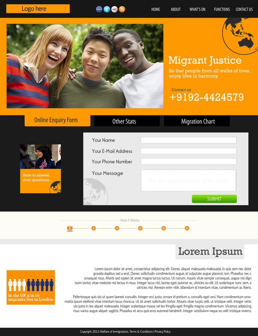 Penyertaan Peraduan #3 untuk Website Design for landing/splash page