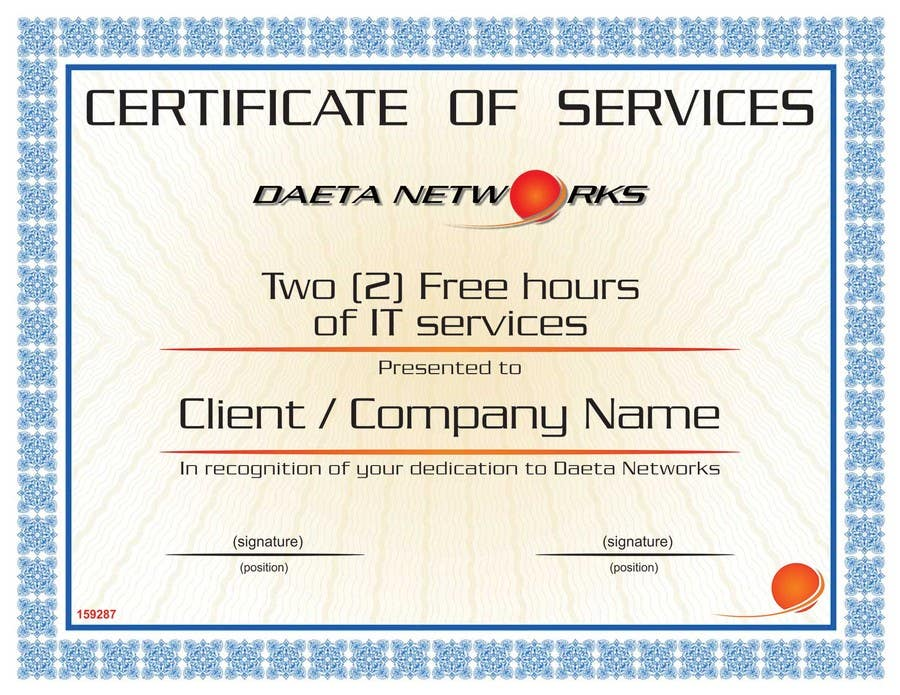 contest entry 18 for design a simple certificate for free it service
