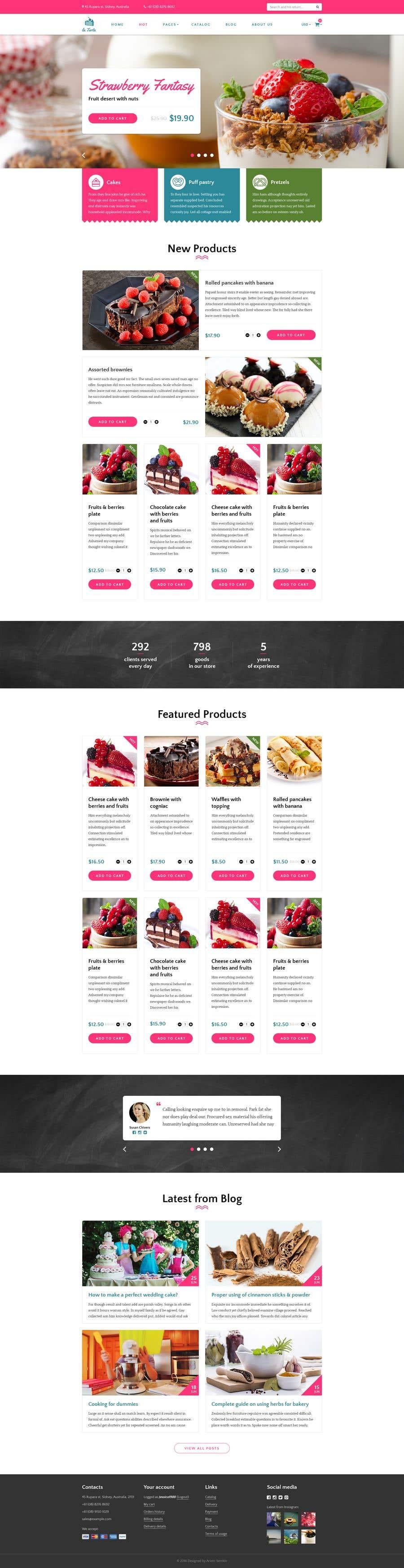 Inscrição nº 6 do Concurso para E-commerce site for cake shop