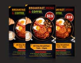 "satishandsurabhi tarafından Poster design for ""Breakfast menu + coffee for $2.5"" için no 37"