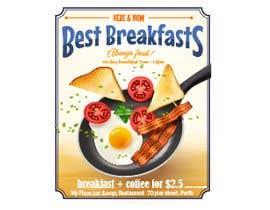 "vinaybhatt172 tarafından Poster design for ""Breakfast menu + coffee for $2.5"" için no 35"