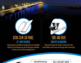 #6 for Advertisement Design for LED lighting products. by creationz2011