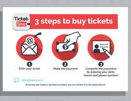 #54 untuk Create Illustration about method for buy a ticket oleh donfreelanz