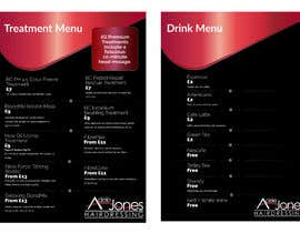 """Nro 13 kilpailuun Create a double sided """"Treatment"""" & """"Drinks"""" menu käyttäjältä maryamartin81"""
