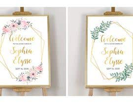 nº 27 pour Editable, Printable, Welcome Sign par Suzenchong