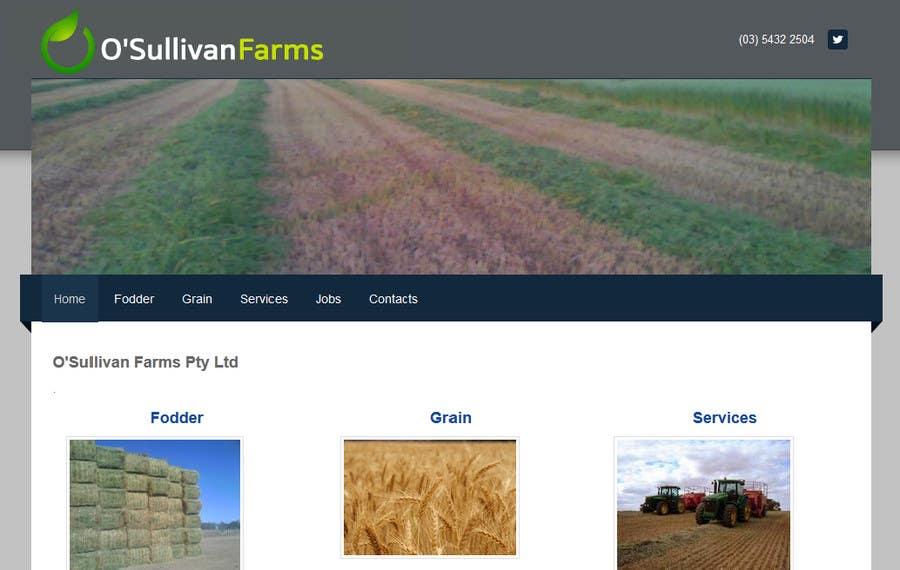 Proposition n°                                        107                                      du concours                                         Logo Design for O'Sullivan Farms