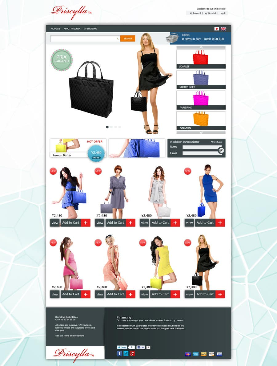 Proposition n°16 du concours Website Design for Women's Tote Bags