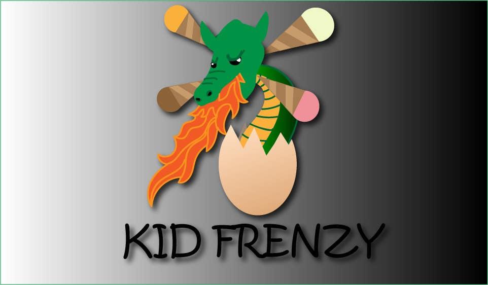 "Proposition n°                                        1                                      du concours                                         Design a Logo for ""Kid Frenzey"""