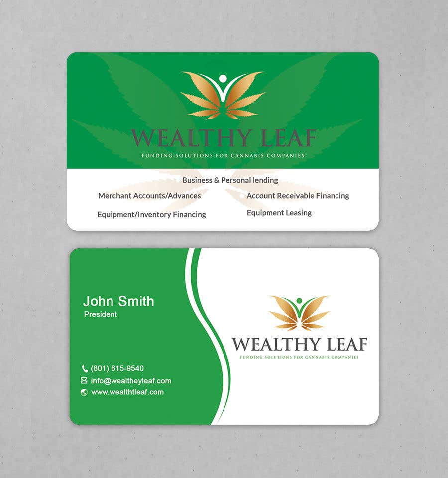 Proposition n°273 du concours Wealthy Leaf needs business cards