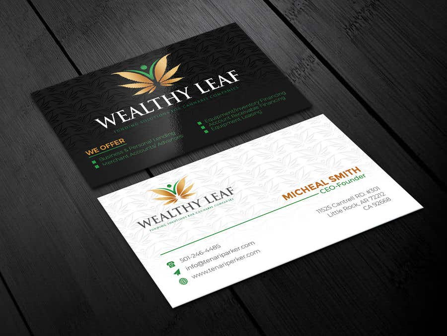 Proposition n°98 du concours Wealthy Leaf needs business cards