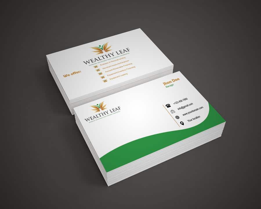 Proposition n°129 du concours Wealthy Leaf needs business cards