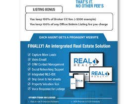 nº 111 pour Custom Flyer for Recruiting Real Estate Agents par felixdidiw