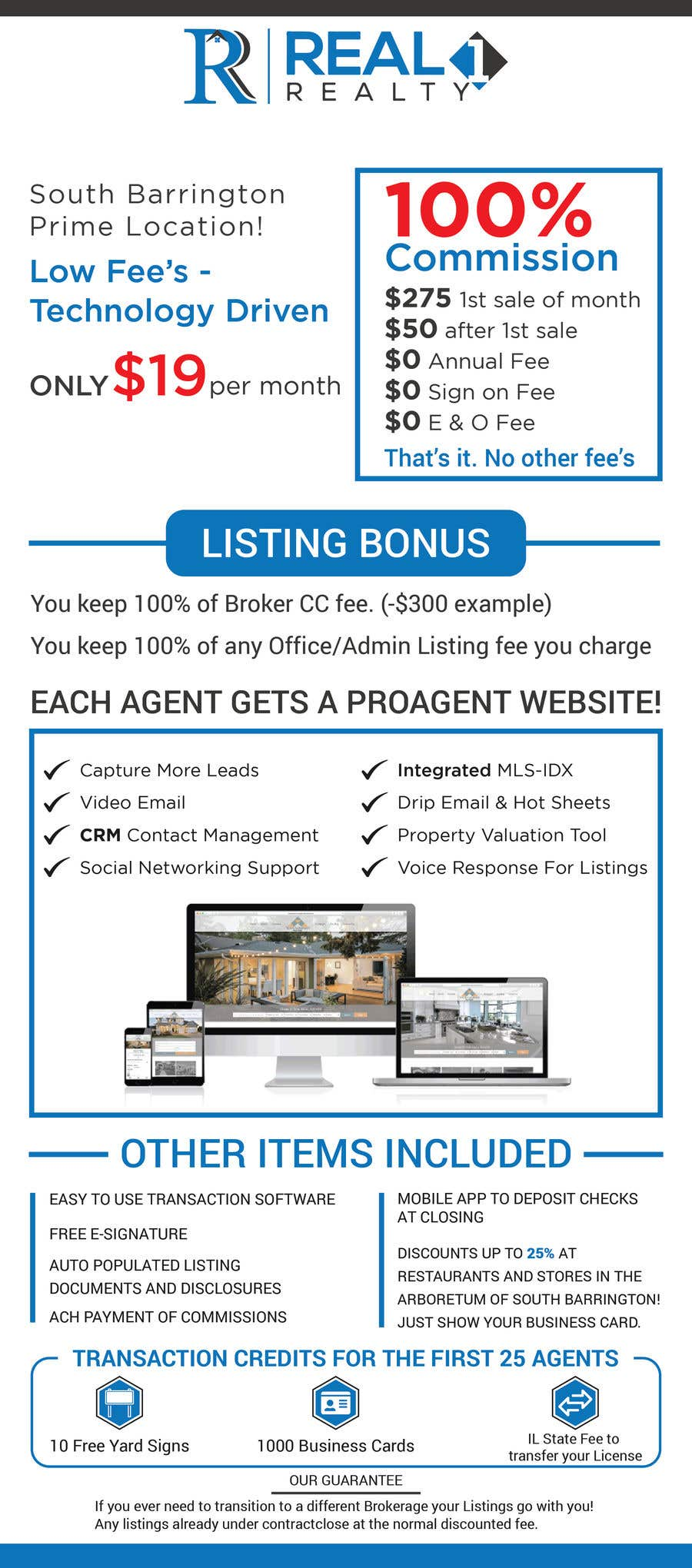 Contest Entry #117 for Custom Flyer for Recruiting Real Estate Agents