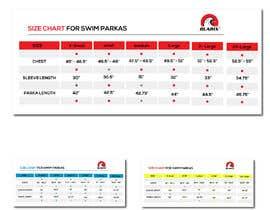 #33 cho Design a nice looking size chart bởi MahnoorKhalid
