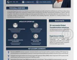 #181 pentru Graphic design for Executive Bio and Resume de către Suzenchong
