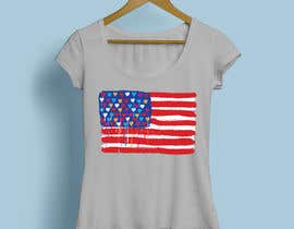 "nº 200 pour T-Shirt Design ""US Flag with Bleeding Hearts - Brushed Painted"" par soikot08"
