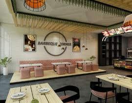 Nro 5 kilpailuun corner BBQ & seafood restaurant remodel käyttäjältä Danksa