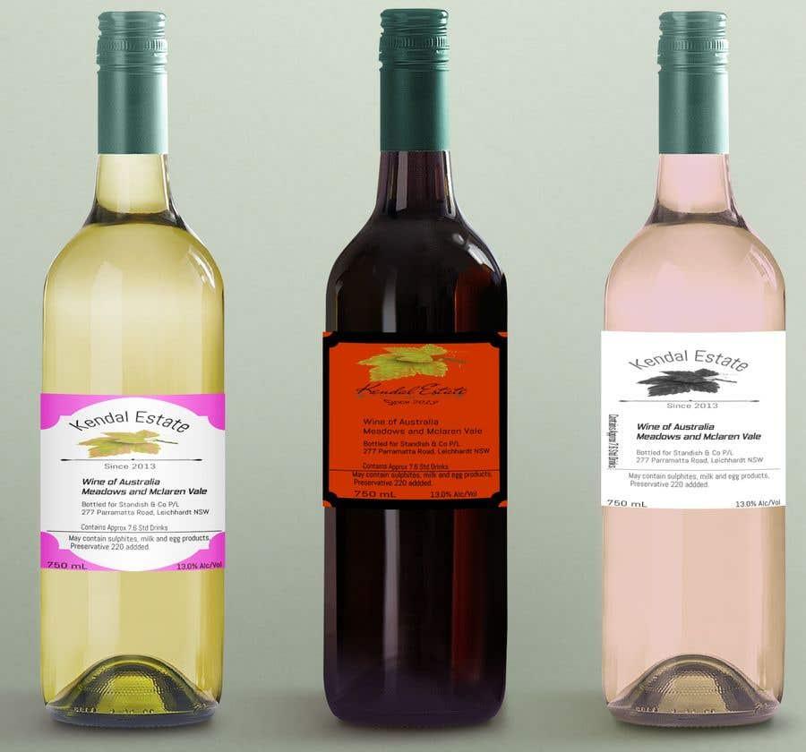 Konkurrenceindlæg #8 for Design for wine labels