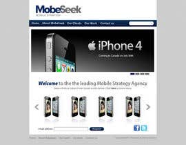 #34 pentru Website Design for MobeSeek - mobile strategy agency de către ronakmorbia