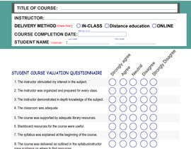 #16 for School/instructor valuation form af marbei