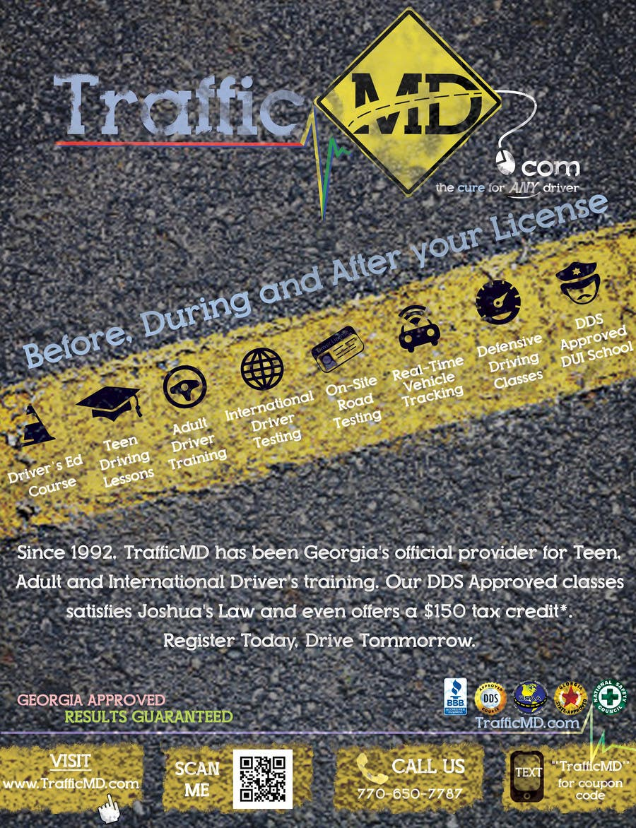 #21 for Advertisement Design for TrafficMD.com Magazine Ad - Full Page Color by krizdeocampo0913