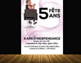 nº 15 pour Flyers fête 5 ans salon de coiffure par amasuma412