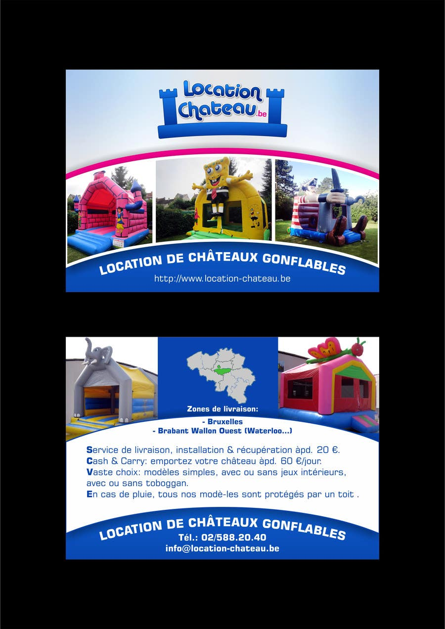Bài tham dự cuộc thi #                                        3                                      cho                                         Flyer Design for Inflatable castle rental