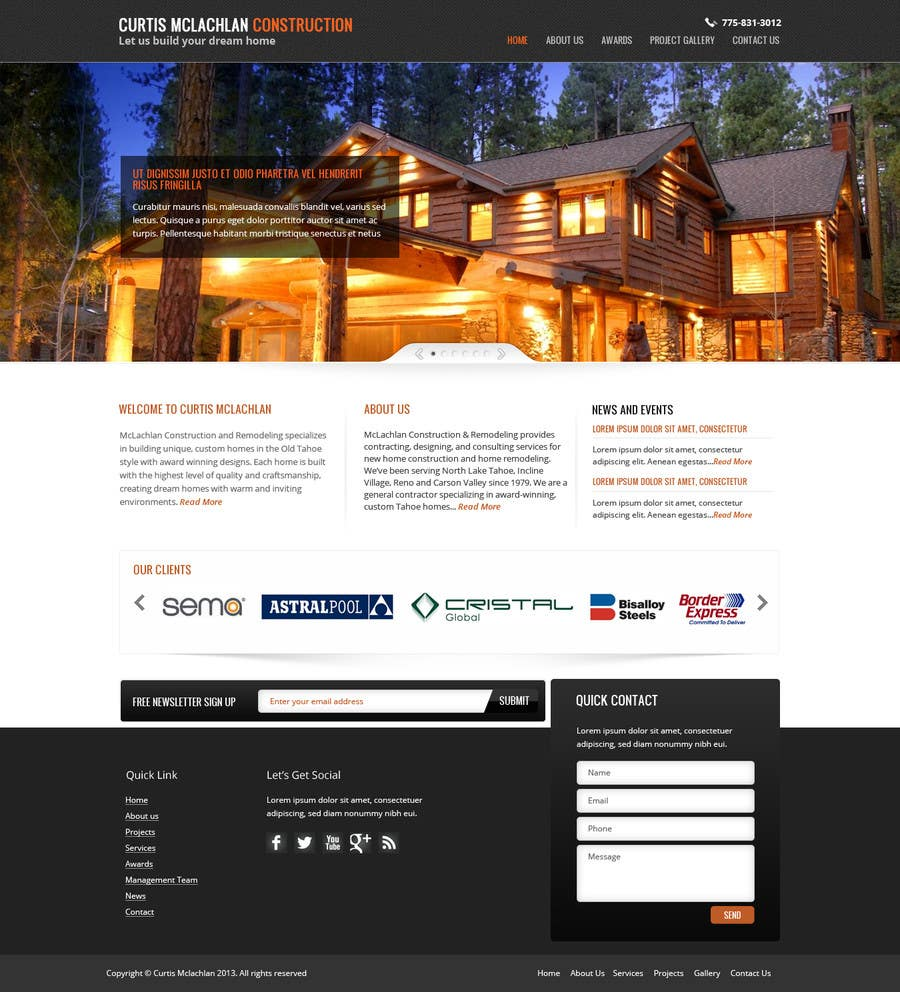 Konkurrenceindlæg #                                        12                                      for                                         Website Redesign for Upscale Building Contractor