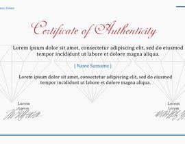 BwBest tarafından Create Certificate of Authenticity için no 24
