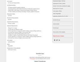 Nro 11 kilpailuun Redesign work page käyttäjältä Naimekattor