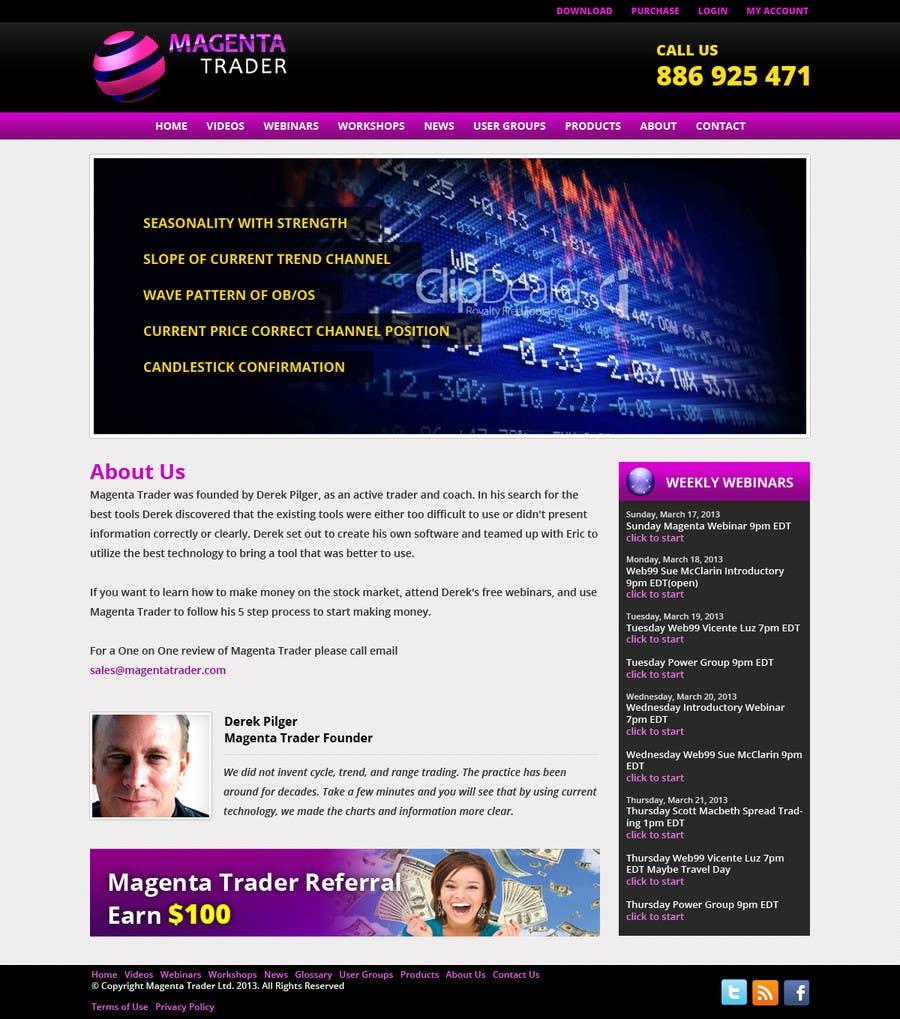Inscrição nº                                         1                                      do Concurso para                                         Website Design for Magenta Trader