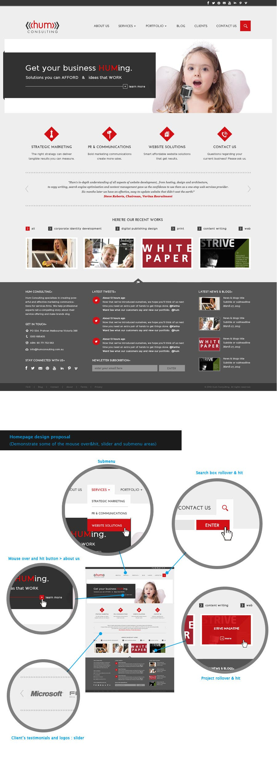 #42 for Website Redesign for Digital Marketing Company by amandachien