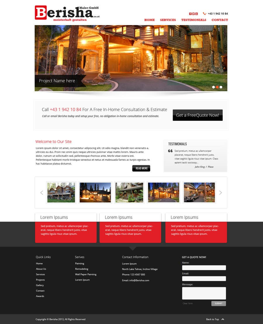#9 for Website Design and programming for Painter Company by Pavithranmm