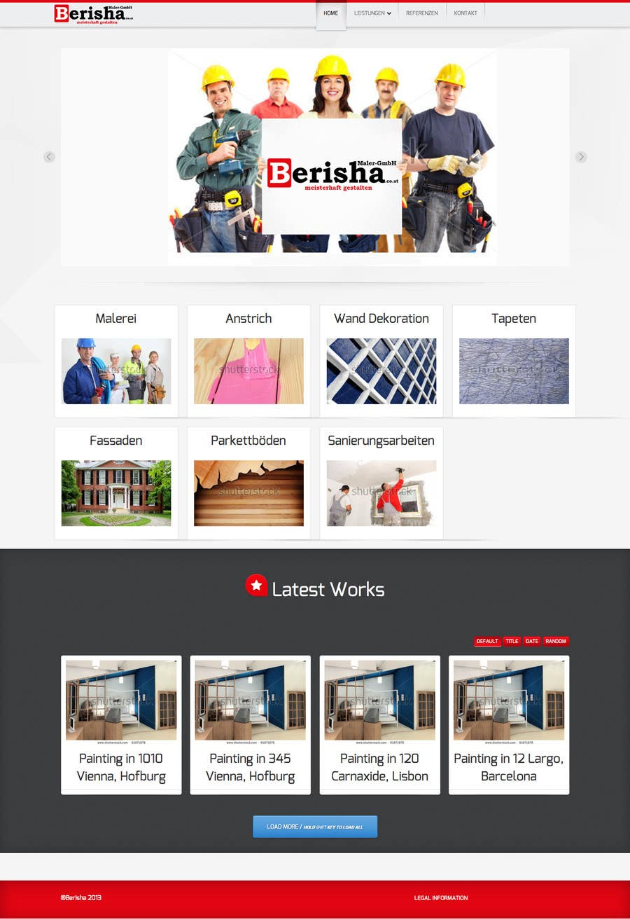 #3 for Website Design and programming for Painter Company by PauloF