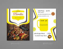#19 for Design a beautiful onepager menu for a restaurant by azizurshahin