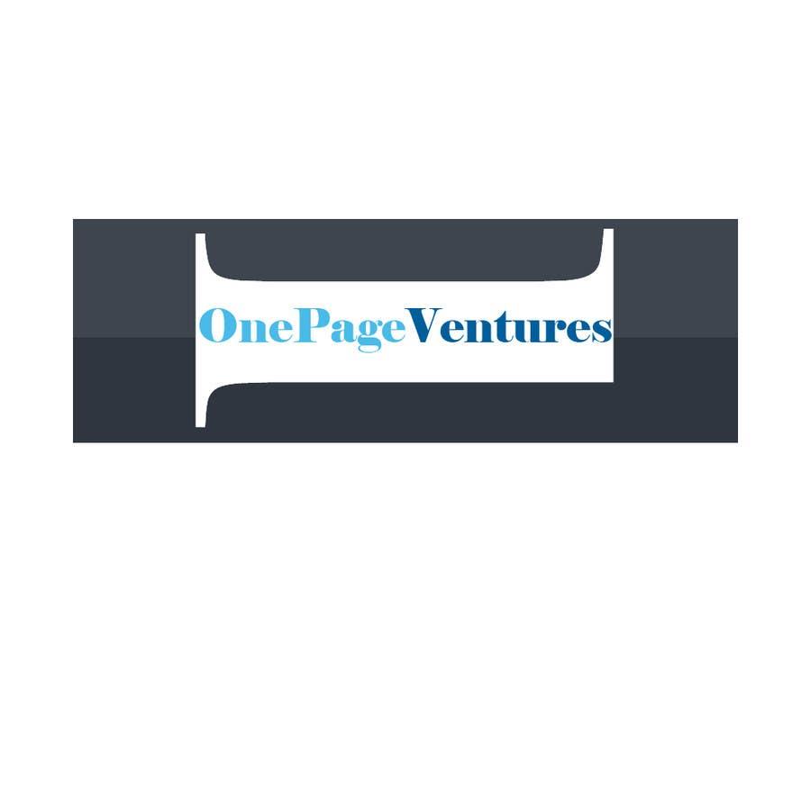 Inscrição nº                                         152                                      do Concurso para                                         Logo Design for OnePageVentures - start up company