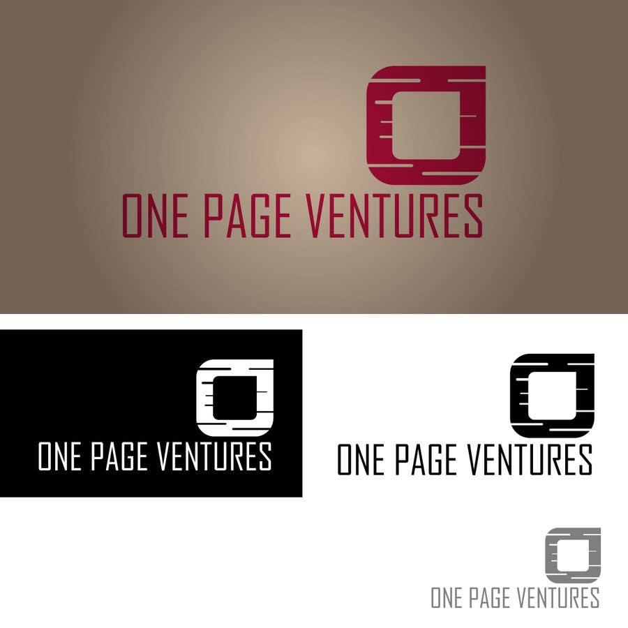 Inscrição nº                                         81                                      do Concurso para                                         Logo Design for OnePageVentures - start up company