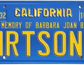 #8 pentru Digital Image of a License Plate de către JuliaB89