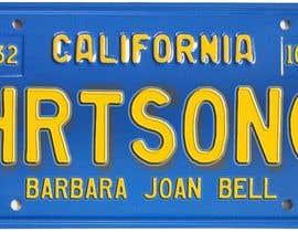 #13 pentru Digital Image of a License Plate de către JuliaB89