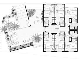 #39 pentru Create a small hotel floorplan that feels like a mansion and not a typical hotel de către mariaharagao