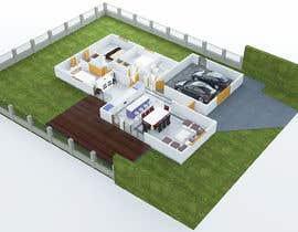 nº 10 pour Floor plan and kitchen render par sofoniasmelesse