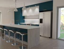 nº 2 pour Floor plan and kitchen render par maggymeyer