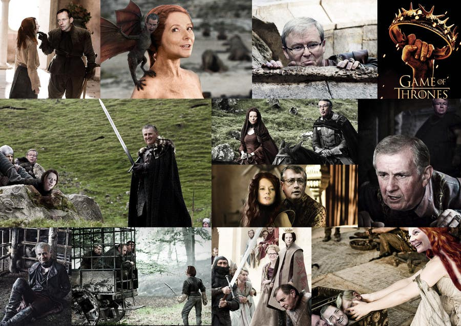 #125 para Photoshop Aussie Politicians into Game of Thrones Mashup de humphreysmartin