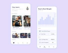 #20 for UX UI design for gym members / Fitness app af FauzanIbnuSarky