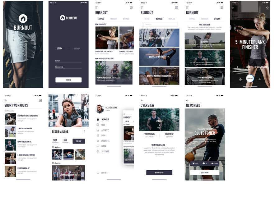 Bài tham dự cuộc thi #35 cho UX UI design for gym members / Fitness app