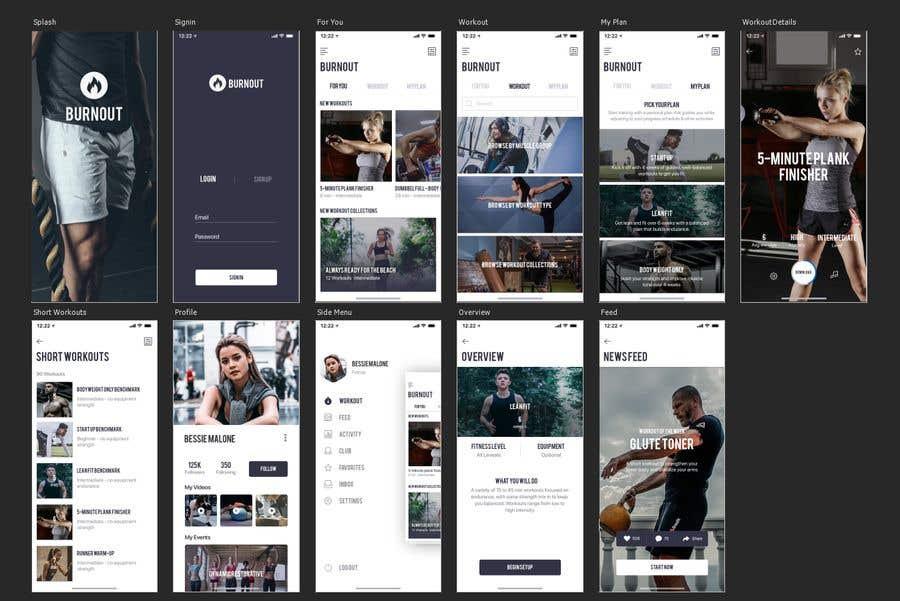 Kilpailutyö #36 kilpailussa UX UI design for gym members / Fitness app