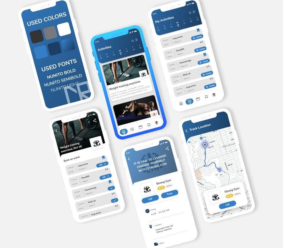 Bài tham dự cuộc thi #37 cho UX UI design for gym members / Fitness app