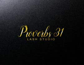 """#103 for I need a logo created for a lash salon. It needs to say """"Proverbs 31 Lash Studio"""" would like Proverbs 31 in gold and lash studio in rose gold or light pink. by tahminaakther512"""