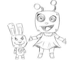 #56 for Create a cartoon character of Robot Girl with pet by ToaMota