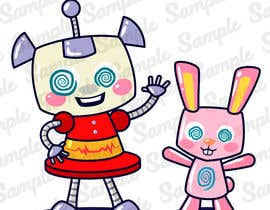 #112 for Create a cartoon character of Robot Girl with pet by Serapret